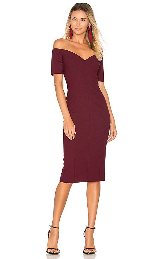 Cinq a Sept Birch Dress in Burgundy
