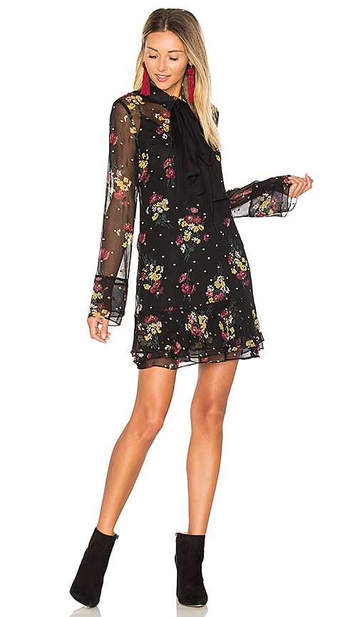 Cinq a Sept Glided Daisy Stevie Dress in Black