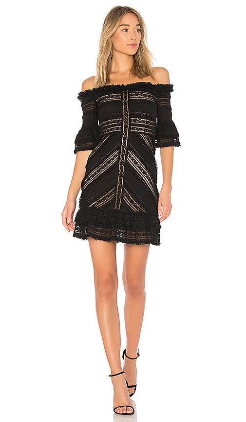 Cinq a Sept Naya Mini Dress in Black