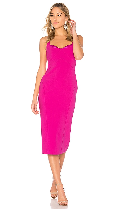 Cinq 192 Sept Mies Jolie Midi Dress Dragon Fruit Modesens