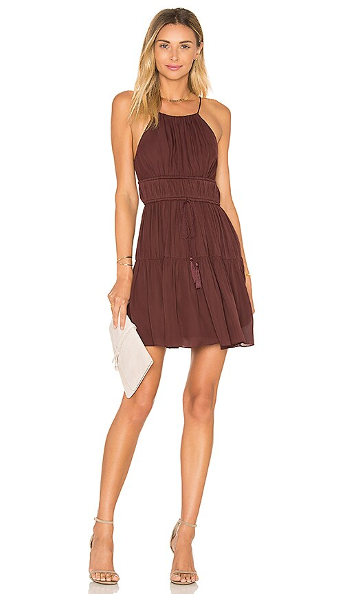 Cinq a Sept Lotus Dress in Burgundy