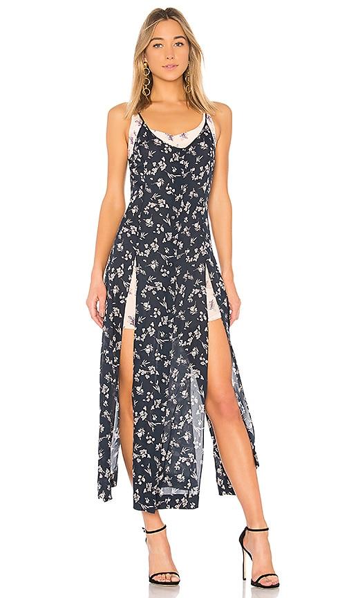 Cinq a Sept Jocelyn Floral Maxi Dress in Blue