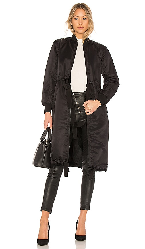 Cinq a Sept Darby Coat in Black