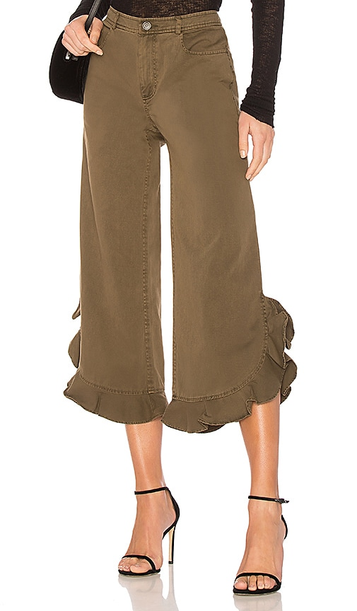 Cinq a Sept Spencer Pant in Olive