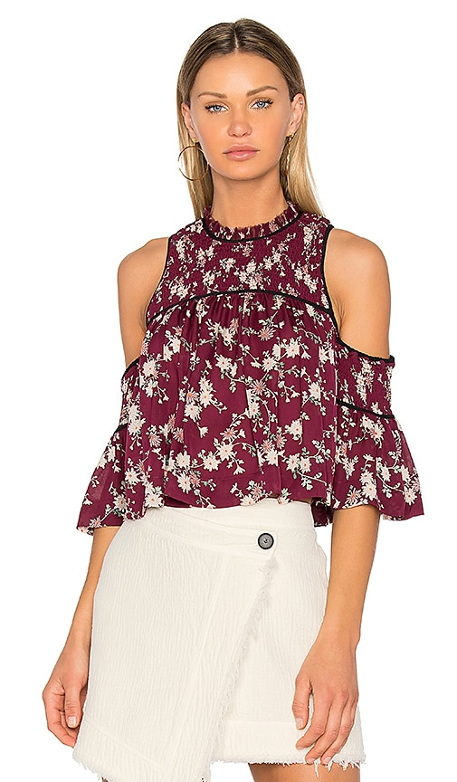 Cinq a Sept Soha Top in Burgundy