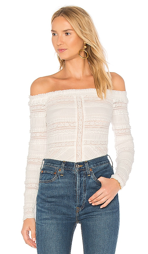 Cinq a Sept Solene Top in White