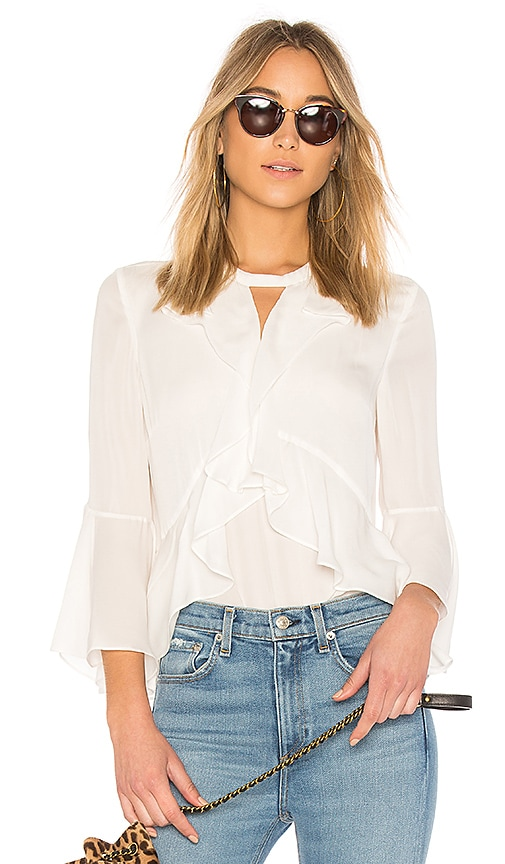 Cinq a Sept Thea Top in Ivory