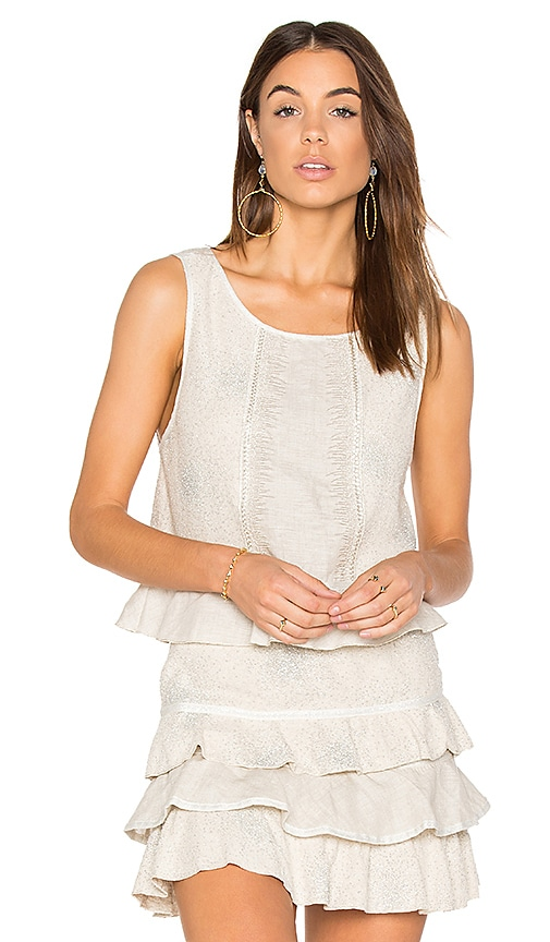 CHIO Shell Top in Beige