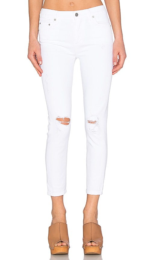 Citizens of Humanity Rocket High Rise Crop Skinny in Distressed Milos