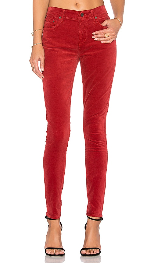 Citizens of Humanity Rocket High Rise Skinny in Red