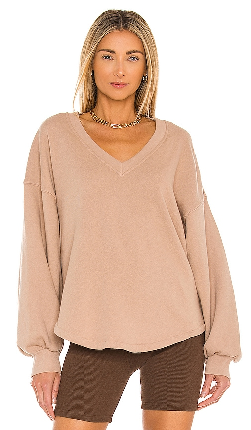 Citizens Of Humanity VIVIENNE V NECK SHIRTTAIL HEM SWEATSHIRT