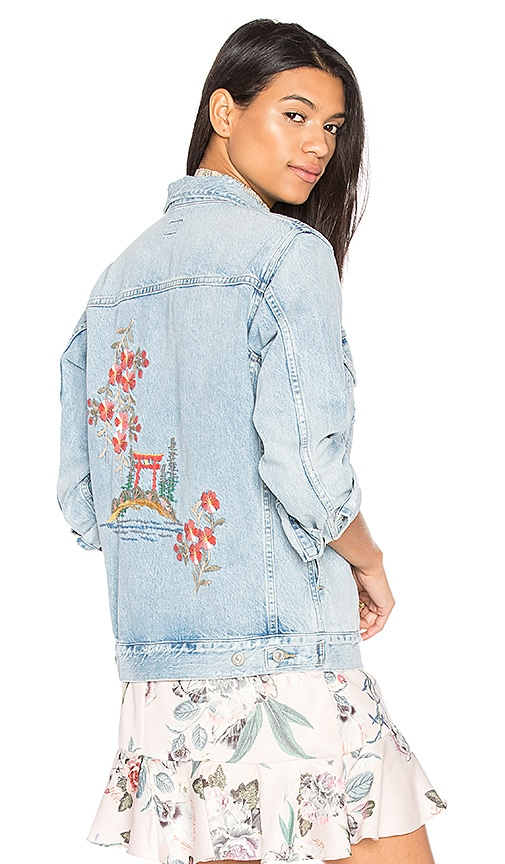 Embroidered Boyfriend Jacket