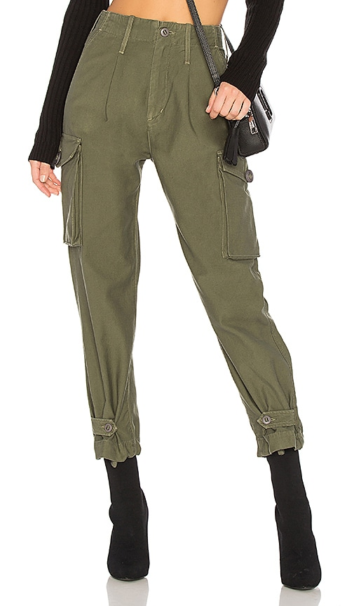 Citizens of Humanity Zoey High Waist Cargo Pant in Green