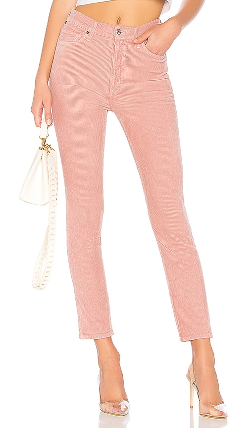 4cf2b2195bdf Citizens of Humanity Olivia High Rise Corduroy in Pink Mist