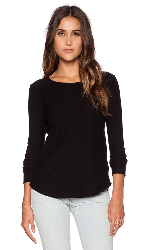Citizens of Humanity Ellie Long Sleeve T-Shirt in Black