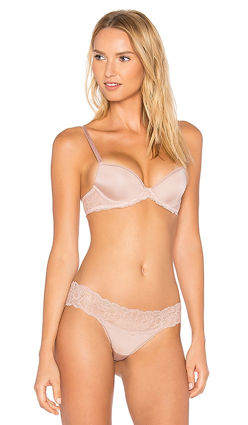 Calvin Klein Underwear Seductive Comfort Demi Lift Bra in Pink