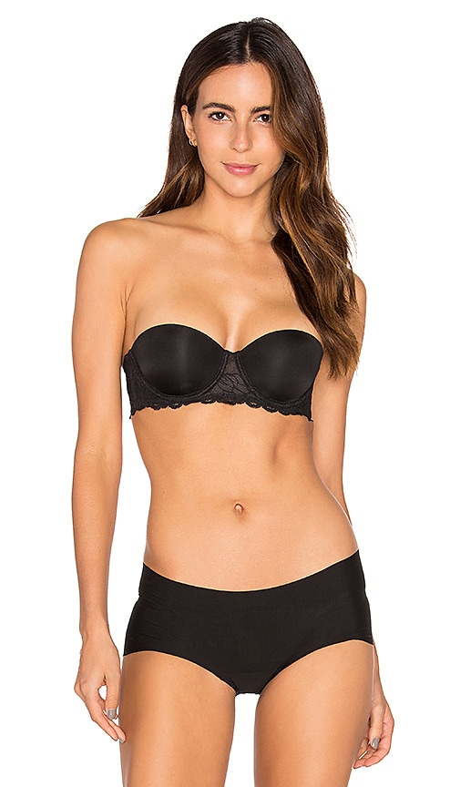 Calvin Klein Underwear Seductive Comfort Strapless Lift Multiway Bra in Black