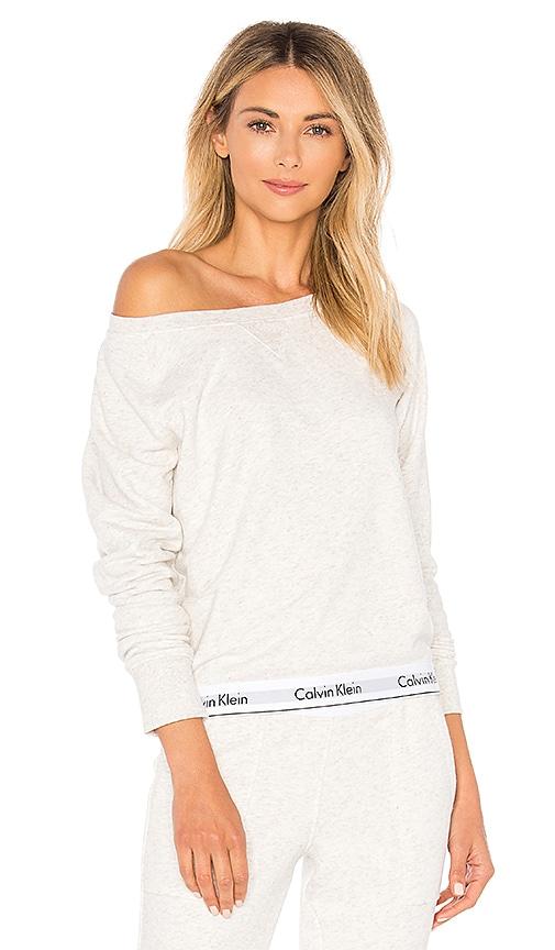 Calvin Klein Underwear Modern Sweatshirt in Light Gray
