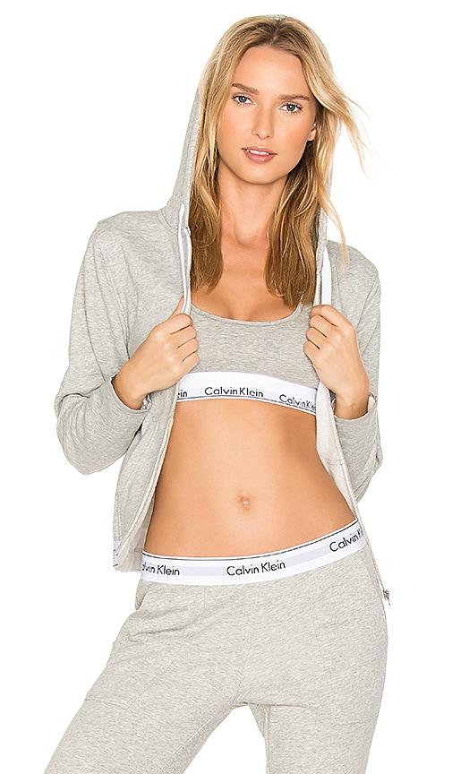 Calvin Klein Underwear Modern Cotton Hoodie in Gray