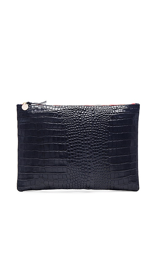Clare V. Oversize Clutch in Navy