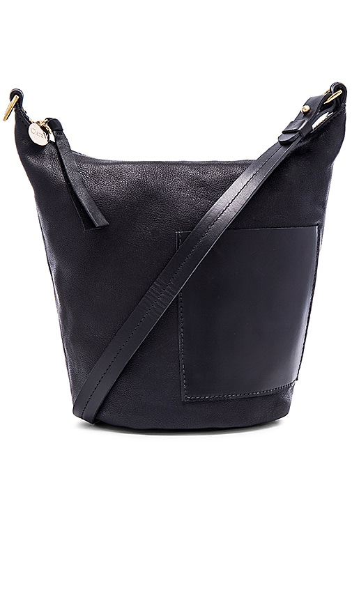 Clare V. Petite Jeanne Bag in Black Slate