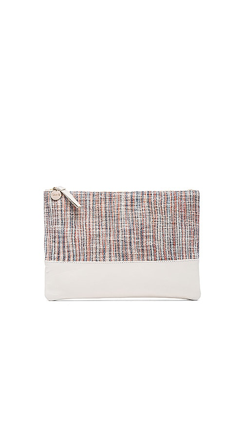 Clare V. Matilde Flat Clutch in Blue