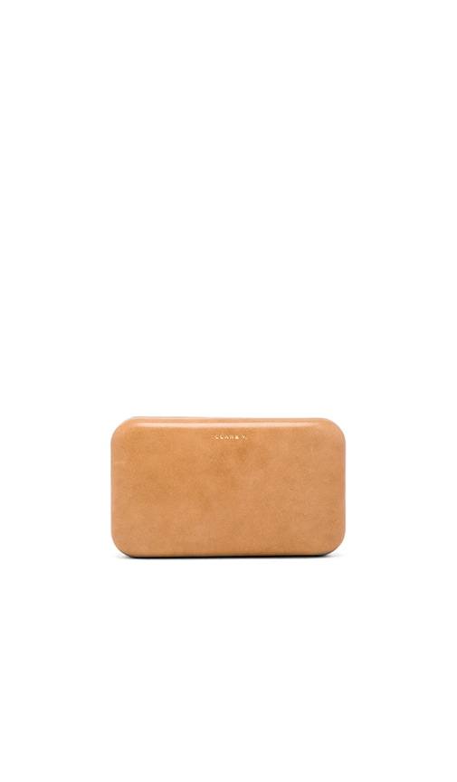 Clare V. Frankie Clutch in Tan