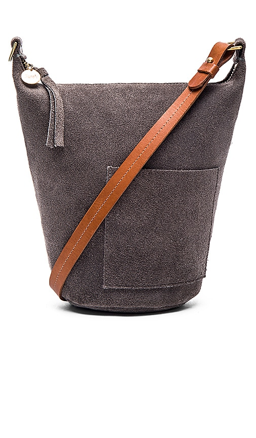 Clare V. Petite Jeanne Bag in Dark Grey Suede