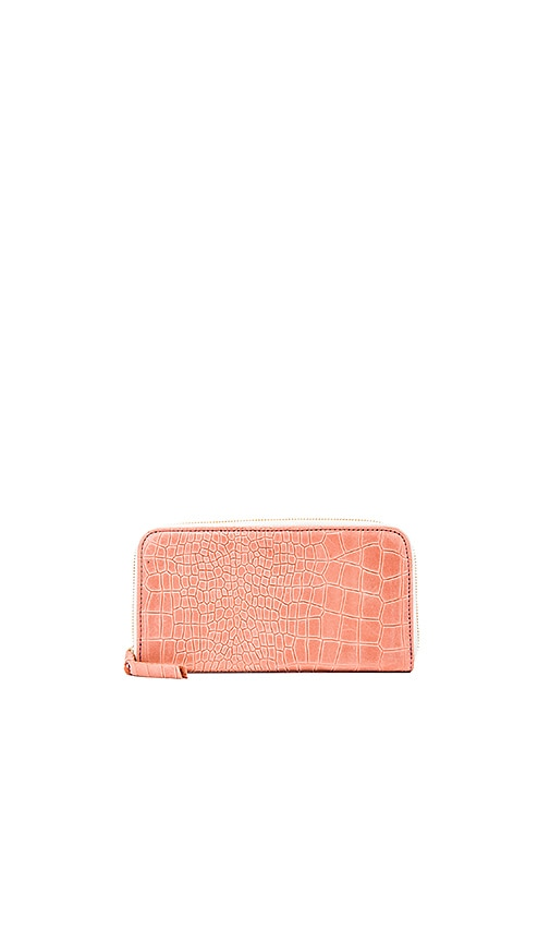 Clare V. Zip Wallet in Coral