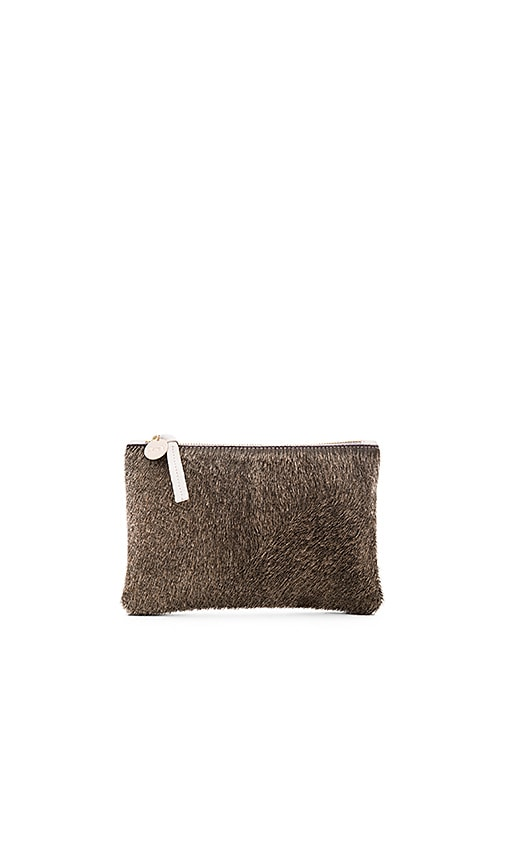 Clare V. Wallet Supreme Clutch in Wolf Hair On