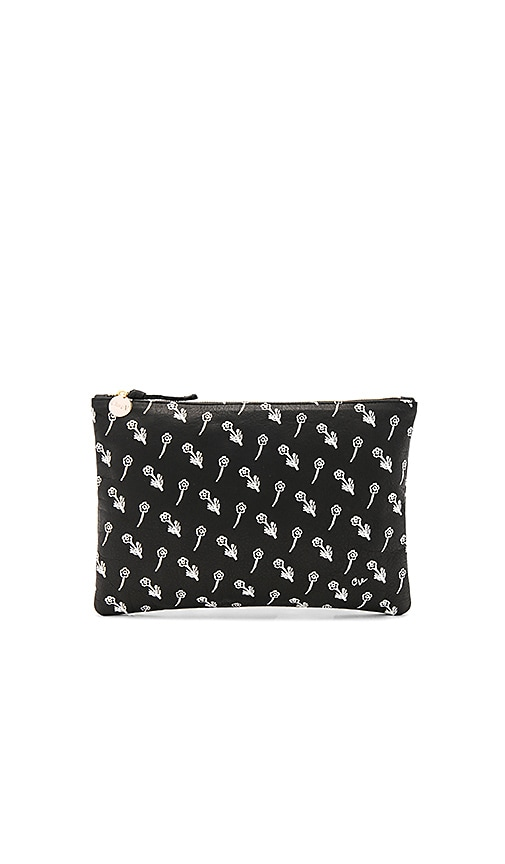 Clare V. Supreme Flat Clutch in Black