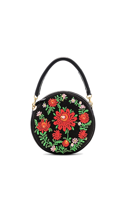 Clare V Mexican Embroidered Circle Bag