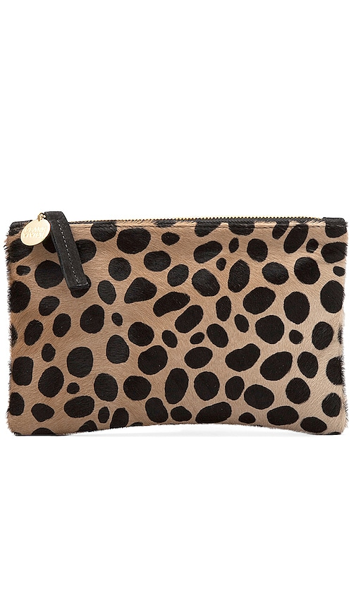 Clare V. Wallet Clutch in Leopard
