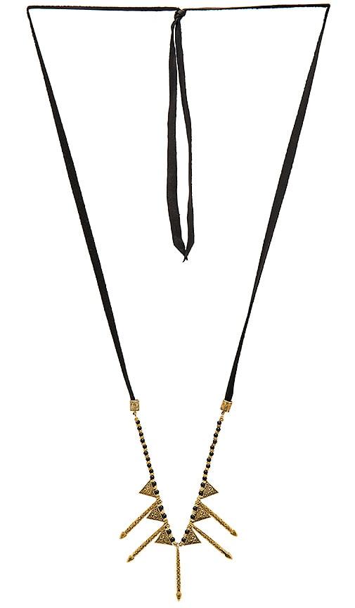 Cleobella Sunrise Necklace in Brass & Black