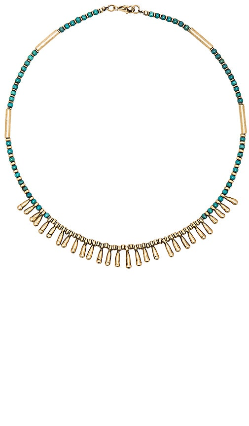 Cleobella Drew Necklace in Brass & Turquoise