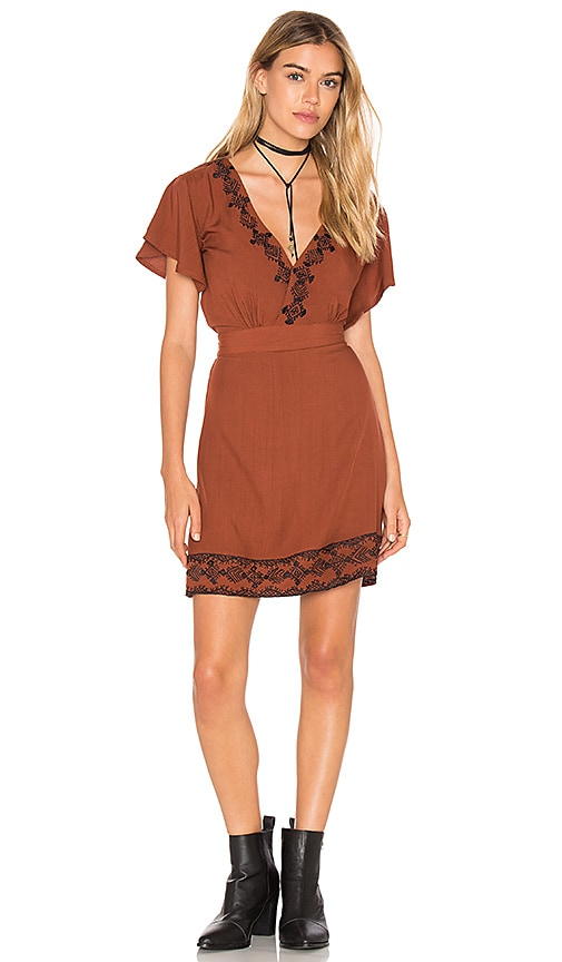 Cleobella Shay Short Dress in Burnt Orange