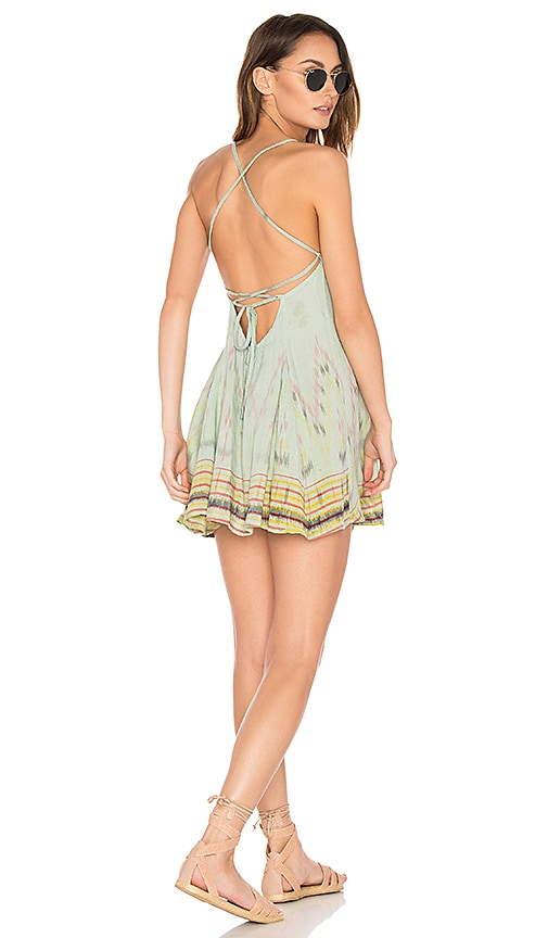 Cleobella St. Kitts Mini Dress in Green