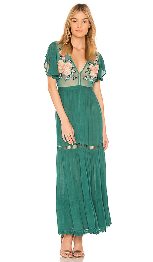 Cleobella Amery Maxi Dress in Green