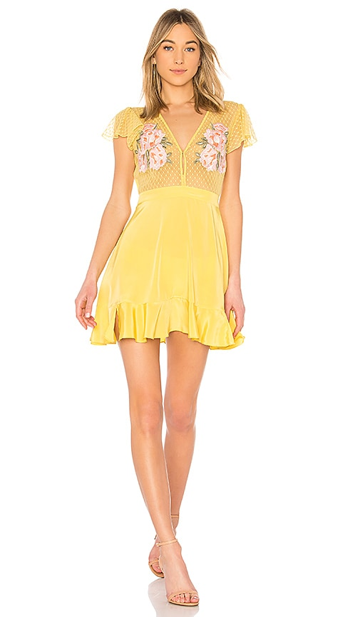 X ROCKY BARNES Cooper Short Dress in Yellow. - size M (also in L,S,XS) Cleobella
