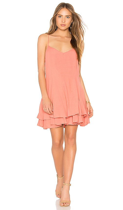 Cleobella Zoe Short Dress in Coral