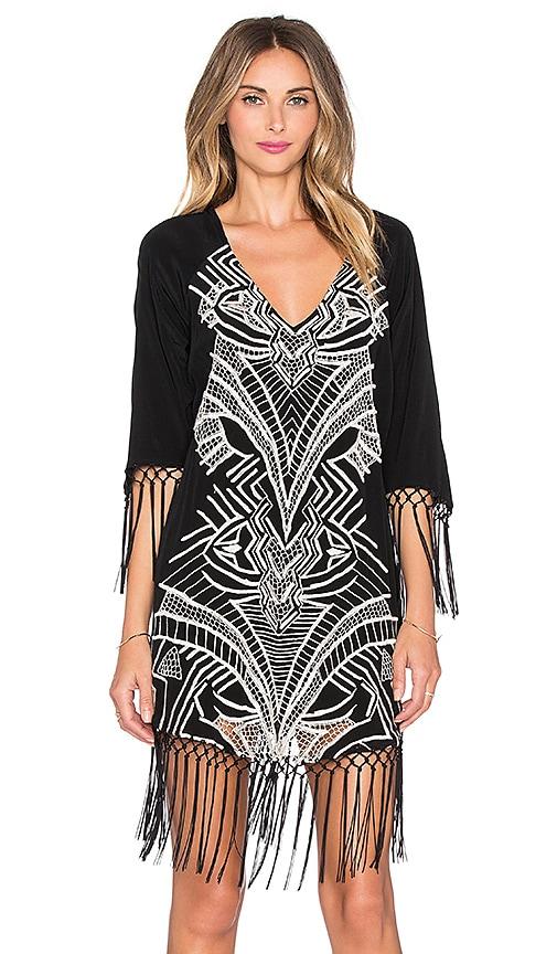 Cleobella Shadow Dress in Black & Ivory