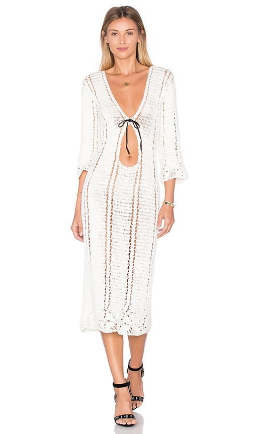 Cleobella x Zella Day for REVOLVE Flower Border Dress in Ivory