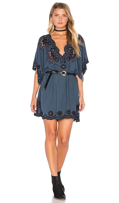 Cleobella Rosie Short Dress in Slate