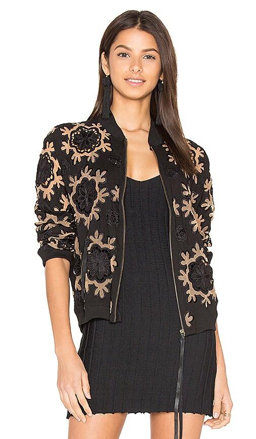 Cleobella Fiona Bomber Jacket in Black