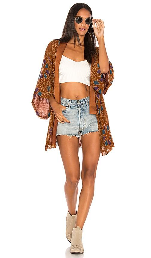 Cleobella Alma Kimono Jacket in Brown