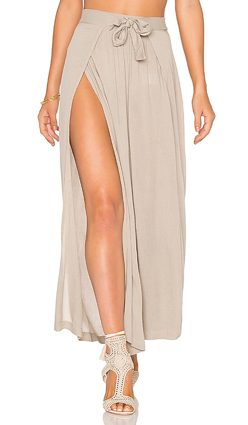 Cleobella Panama Wrap Pants in Beige