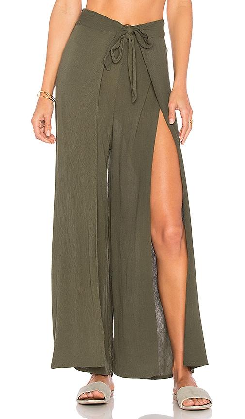 Cleobella Xico Wrap Pants in Green