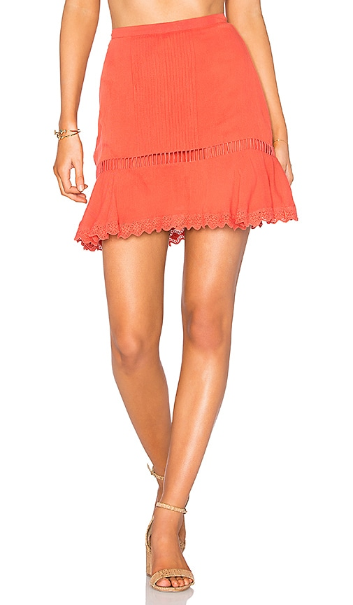 Cleobella Maxine Skirt in Coral