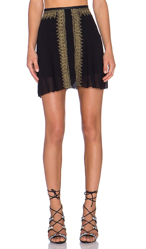 Cleobella Lakshmi Mini Skirt in Black