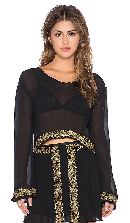 Cleobella Nassau Long Sleeve Top in Black